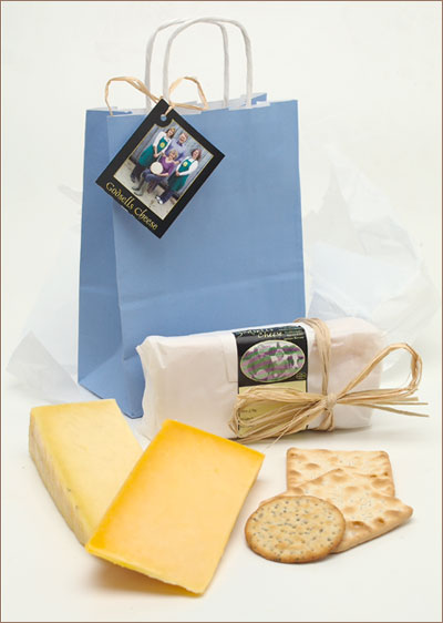 Great Gift Ideas from Godsells Cheese - The Gloucesters in a Blue Bag